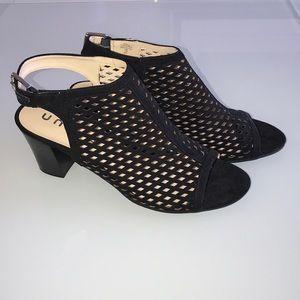 NWOT UNISA Black Peep Toe Booties 11 M
